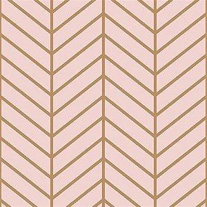Papel De Parede Vinílico Cubic - Rosa - CU87427
