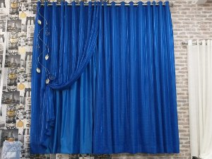 Cortina Sob Medida Forro Azul