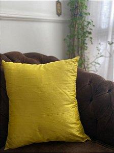 Almofada Seda Pura Amarela