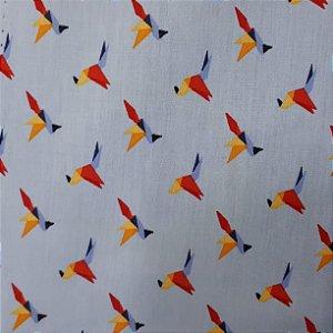 Tricoline Origami azul clarinho