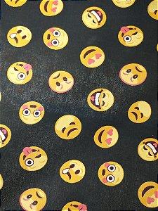 Tricoline Emoji Preto