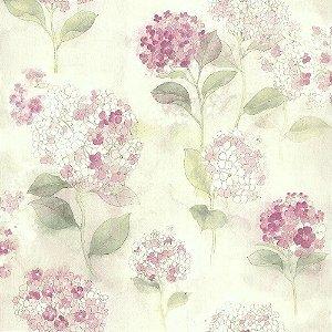 Papel De Parede Rosa Vinilico Garden SZ003013