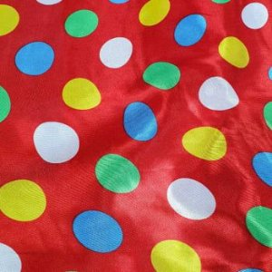 Tecido Cetim Vermelho Poá Colorido 1,40x1,00m