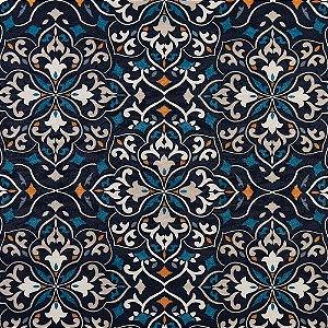 Tecido karsten Marble 35 Jacquard Oasis Marinho-Azul - Largura 1,40m - MARB-35