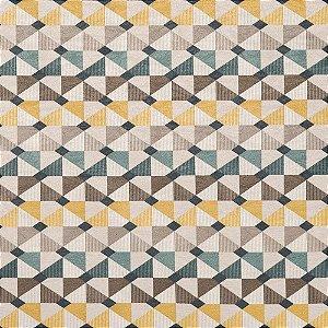 Tecido karsten Marble 24 Jacquard Cataento Cinza-Amarelo - Largura 1,40m - MARB-24