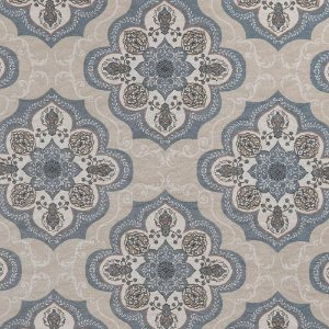 Tecido karsten Marble 41 Jacquard Haboni Azul-Bege - Largura 1,40m - MARB-41