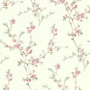 Papel De Parede Rosa Vinilico Garden SZ002774