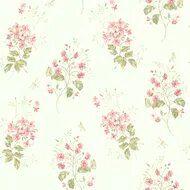 Papel De Parede Branco com Vermelho Vinilico Garden SZ002701