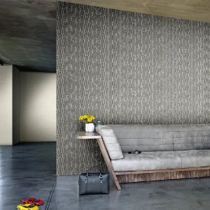 Papel de Parede Cinza e Grafiti Geométrico Lamborghini Z44835