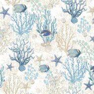 Tecido karsten Acquablock 15 AL Mare Azul-Bege - Largura 1,40m - ACB-15