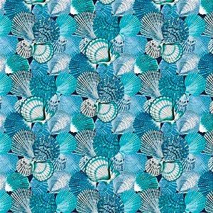 Tecido karsten Acquablock 10 Coquile Azul-Tiffany-Cinza - Largura 1,40m - ACB-10