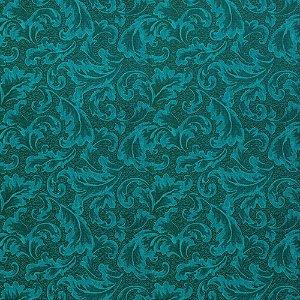 Tecido Para Sofá e Estofado Jacquad Impermeabilizado Panama 147 Arabesco Preto Tifanny - Largura 1,40m - PN-147