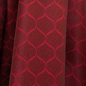 Tecido Para Sofá e Estofado Jacquad Impermeabilizado Panama 130 Geometrico Vinho - Largura 1,40m - PN-130