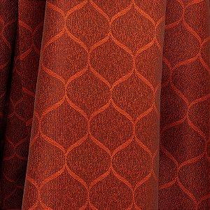 Tecido Para Sofá e Estofado Jacquad Impermeabilizado Panama 126 Geometrico Terracota - Largura 1,40m - PN-126