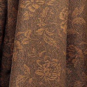 Tecido Para Sofá e Estofado Jacquad Impermeabilizado Panama 121 Flor Ferrugem - Largura 1,40m - PN-121