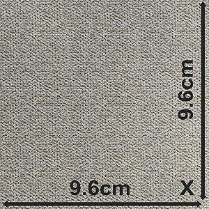 Tecido Para Estofado Nina 04 Rústico Algodão Flame Branco e cinza - Largura 1,40m - NIN-04