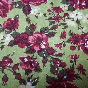 Tricoline verde florido