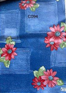 Oleado Térmico Azul com Flores