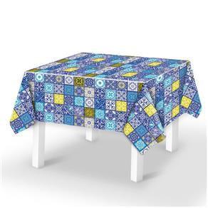 Toalha de Mesa Plástica Térmica Azulejo Portugues Cozinha Decoração 1,40x1,00m