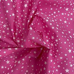 Tricoline Rosa Estrelado