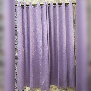 Cortina de Cetim Amassado lilás