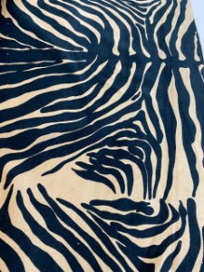Tecido Veludo de Algodão Estampado Zebra