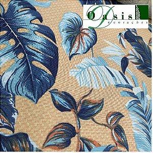 Tecido Acquablock Impermeável Costela de Adão Azul 1,40x1,00 Estofados Área Externa