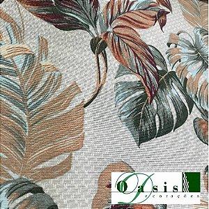 Tecido Acquablock Impermeável Costela de Adão Verde 1,40x1,00m Estofados Área Externa