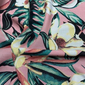 Tecido Popeline1,40x1,00m 100% Viscose Confecção de Roupas Florido