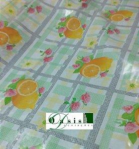 Toalha de Mesa Térmica Transparente Frutinhas 1,40x1,00m