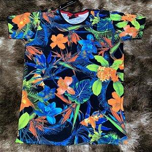 KIT com 5 Camisetas Malha Premium Floral 100% Algodão - Atacado- 49 9b584dafec40e