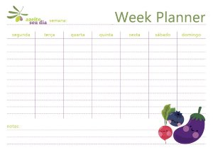 Planner semanal Legumes