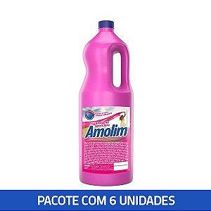 Alvejante Sem Cloro Amolim 2l Pacote C/6 Unid.