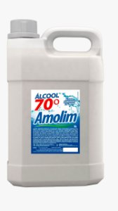 ALCOOL LIQUIDO ETILICO 70 INPM AMOLIM 5 LTS