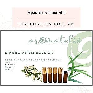 Kit Apostila Sinergias em Roll-on + Frascos e Óleos