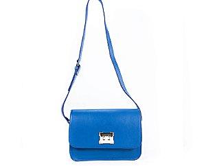 a83f413b1a Bolsa Transversal Irving Bag em Couro Natural Legítimo Azul
