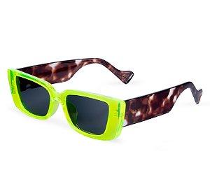 Óculos de sol gatinho - Tartaruga Oliva - Verde/tartaruga