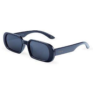 Óculos de sol retrô retangular - Gabiroba - Azul
