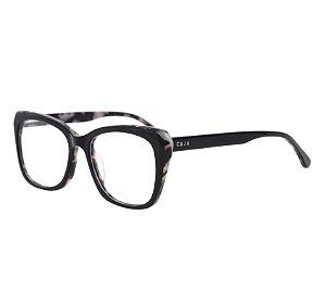 Armação para óculos de grau gatinho - Cacau - Preto