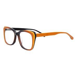 Armação para óculos de grau gatinho - Cacau - Amarelo