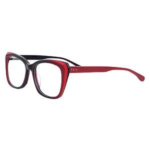 Armação para óculos de grau gatinho  - Cacau - Vermelho