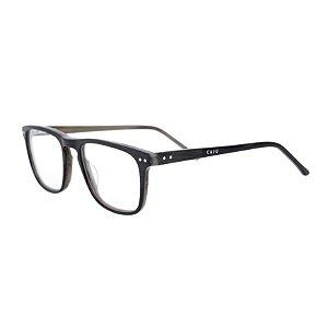 Armação para óculos de grau retangular - Cambuci - Preto