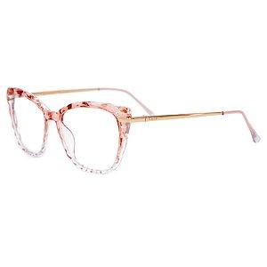 Armação para óculos de grau gatinho - Queijadinha - Nude cristal/Degradê