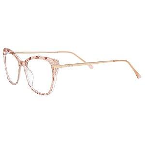 Armação para óculos de grau gatinho - Queijadinha - Nude cristal