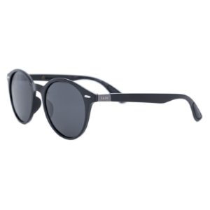 Óculos de sol redondo - Café - Preto