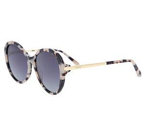 Óculos de sol redondo - Madalena - Bege mesclado