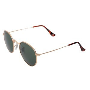 Óculos de sol redondo - Trindade - Dourado/Verde
