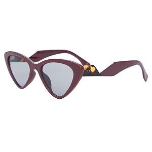 Óculos de sol retrô gatinho - Pitanga - Vinho