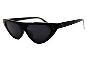 Óculos de sol retrô gatinho - Pé de moça - Preto