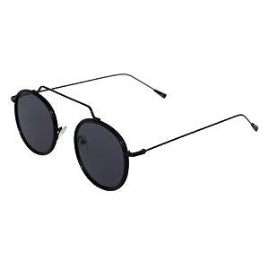 Óculos de sol redondo - Gramado - Preto